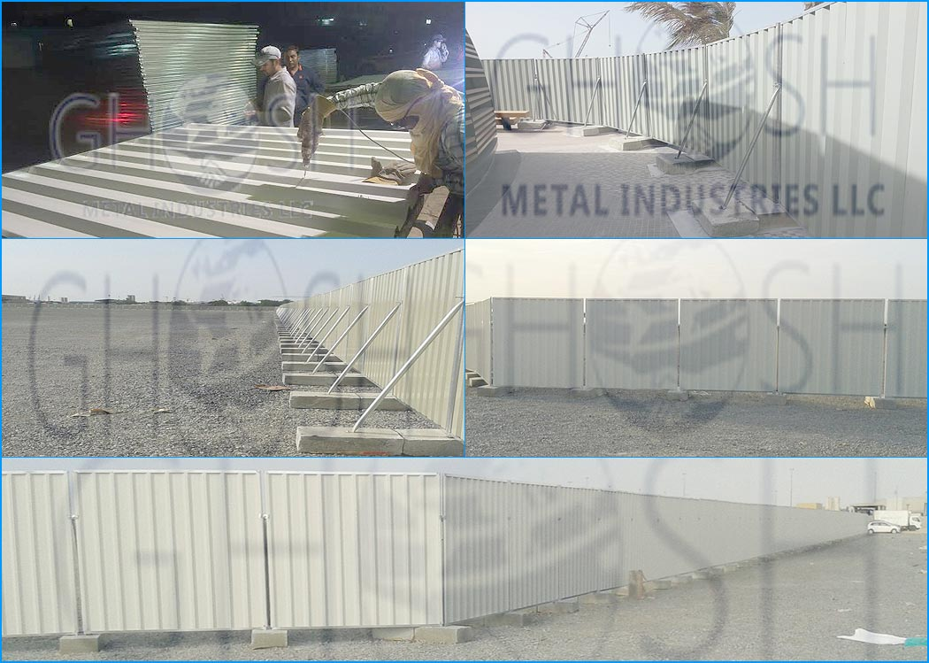 Temporary Fencing Panel Metal Corrugated Fencing