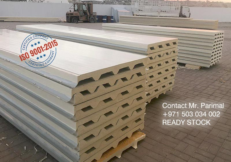 ISO9001:2015 45x250 sandwich roof panel supplier in Dubai